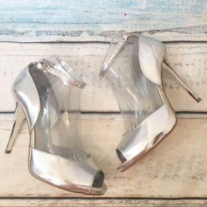 Bakers Metallic Silver Special Occassion Heels